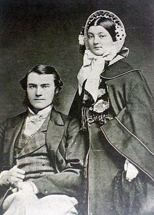 H.W. (Bill) Peterson and wife Emma Grange, 1860. Photo courtesy of the Peterson Family.