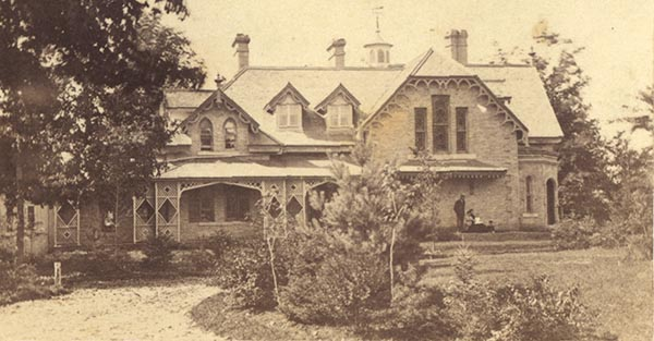 Ulmenwald, east elevation, circa 1870. Photo courtesy of the Peterson Family.